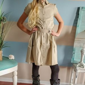 NWT Chaps Belted Shirtdress